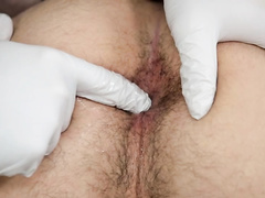 Twink gets fucked hard by doctor and assistant