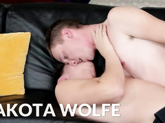 Blue eyed twink calls his friends to have hot threesome gay fuck