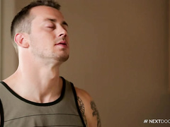 Delivery guy gets passionate gay fuck for tips
