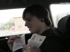 Cutie guy with pierced ear got seduced by gay driver