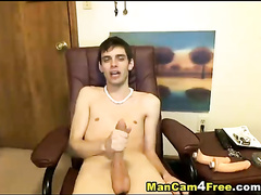 Scrawny twink is showing asshole in doggy pose