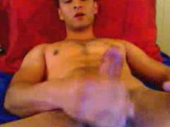 Handsome twink is enjoying hot masturbation