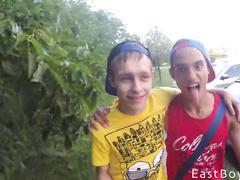 Latin boys kissing and masturbating cocks