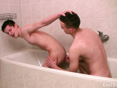 Gays enjoy bj and fingering action