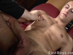 Gay cock grows from hard masturbation