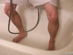 Hot HD video with guy masturbating in the shower